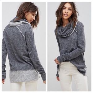 Free People Beach Cocoon Funnel Cowl Neck Sweater